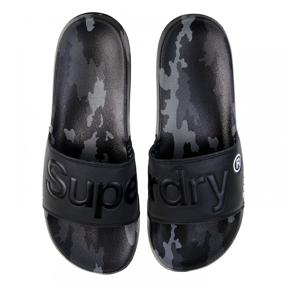 b1e85e61c6 Superdry Mens Mono Camo Dot Slides (Black) - Mens from Loofes UK