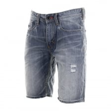 Superdry Mens Officer Denim Shorts (Blue)