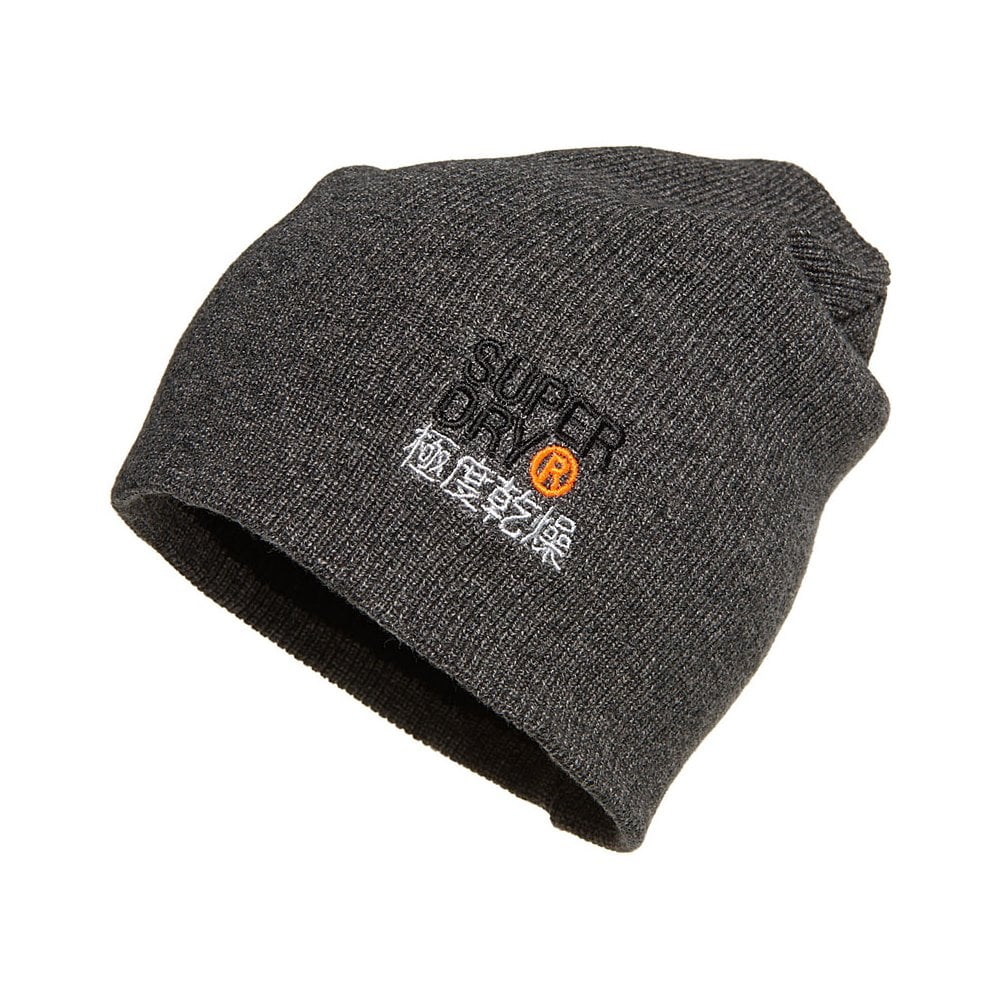 Superdry Mens Orange Label Beanie (Grey) - Mens from Loofes UK d49ac1b0717