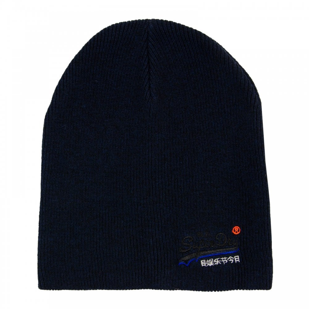 Superdry Mens Orange Label Beanie Hat (Navy) - Mens from Loofes UK 94d5a9898de8