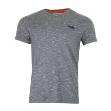 Superdry Mens Orange Label Vintage Emb T-Shirt (Blue)