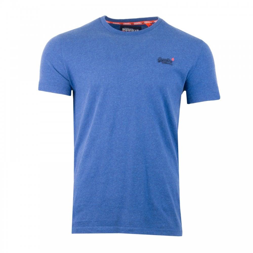 510bb57e Superdry Mens Orange Label Vintage Emb T-Shirt (Cobalt) - Mens from ...