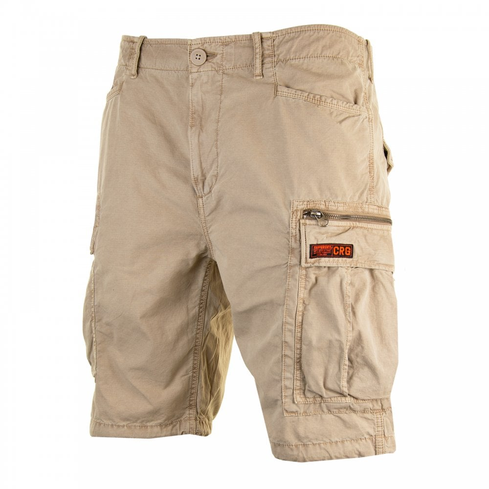 477822868d Superdry Mens Parachute Cargo Shorts (Sand) - Mens from Loofes UK