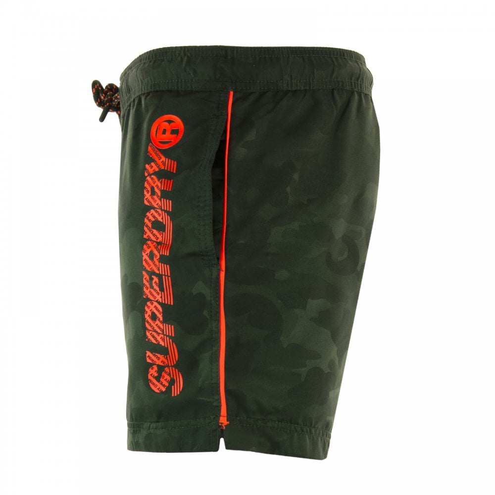 cef2750eb2 Superdry Mens Pool Side Swim Shorts (Green) - Mens from Loofes UK