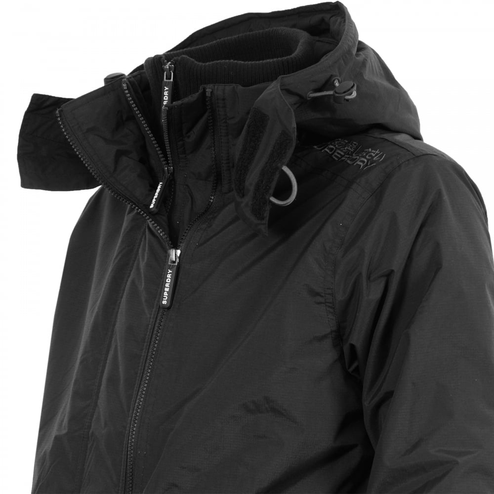 Superdry Mens Pop Zip Arctic Windcheater (Black Grey) - Mens from ... 171521d9543