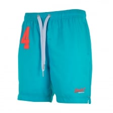 Superdry Mens Premium Water Polo Swim Shorts (Blue)