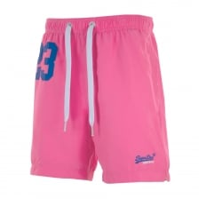 Superdry Mens Premium Water Polo Swim Shorts (Pink)