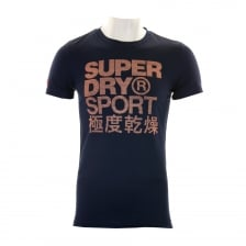 Superdry Mens Sport Athletic Graphic T-Shirt (Navy)