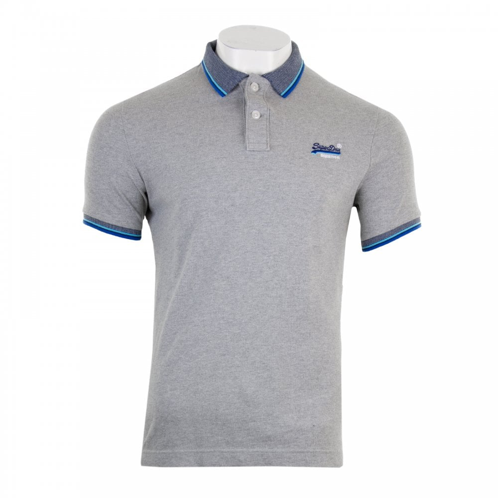 211c801446e5 Superdry Mens Sunrise Cali Pique Polo (Grey) - Mens from Loofes UK