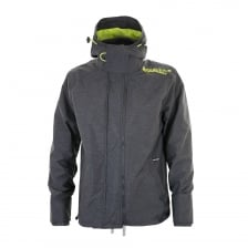 Superdry Mens Tech Hood Pop Zip Windcheater (Navy/Green)