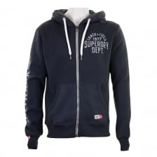 Superdry Mens Trackster Full Zip Hooded Sweatshirt (Blue/Black)
