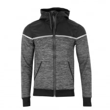 Superdry Mens Training Hybrid Full Zip Sweat (Charcoal)