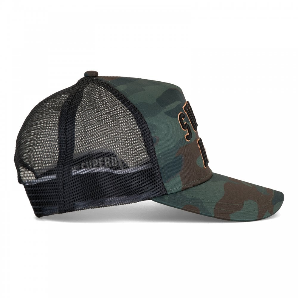 Superdry Mens Trucker Cap (Green) - Mens from Loofes UK b1aef6a2c515