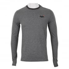 Superdry Mens Vintage Embroidered Long Sleeve T-Shirt (Grey)