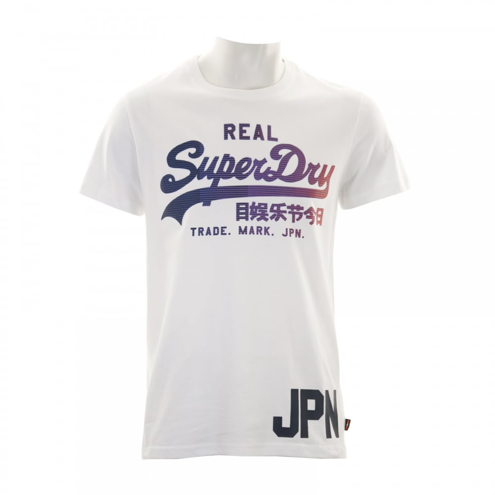 Superdry Mens Vintage Logo 1st T-Shirt (White)