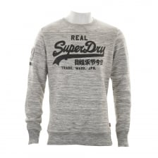 Superdry Mens Vintage Logo Crew Sweatshirt (Grey)