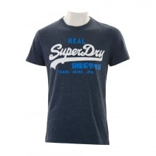 Superdry Mens Vintage Logo Duo T-Shirt (Navy)
