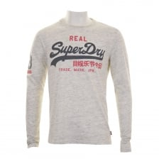 Superdry Mens Vintage Logo Long Sleeve T-Shirt (Cream)