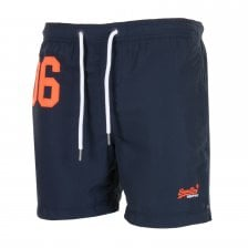 Superdry Mens Waterpolo Swim Shorts (Navy)
