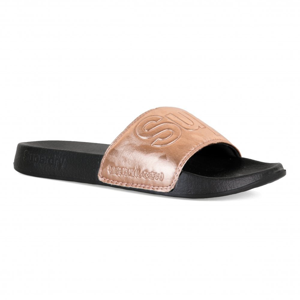 5d393253f546 Superdry Womens Rose Gold Camo Pool Slides (Rose Gold) - Womens from ...