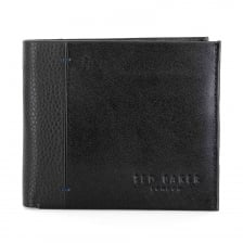 Ted Baker Contrast Spine Leather Wallet (Black)