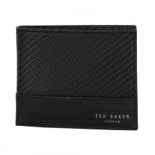Ted Baker Innova Carbon Fibre Leather Wallet (Black)