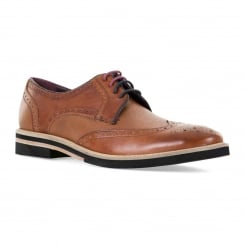 Ted Baker Mens Archer 2 Derby Brogue Shoes (Tan)