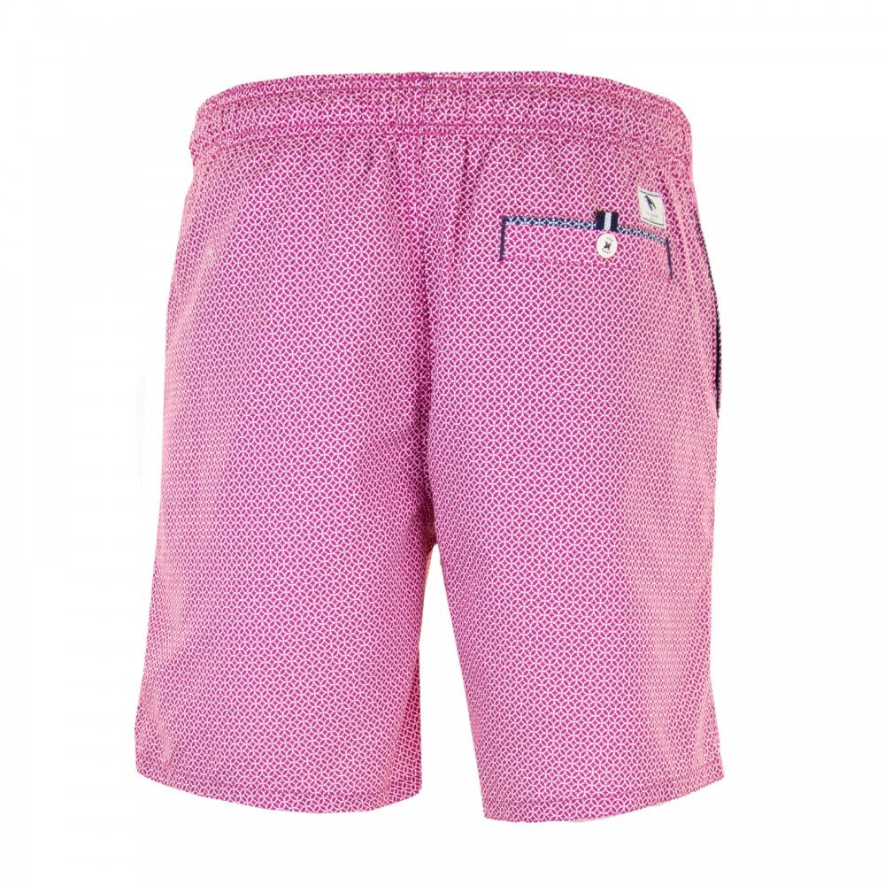 3eb6e575d7 Ted Baker Mens Atlantic Geo Print Swimshorts (Pink) - Mens from ...