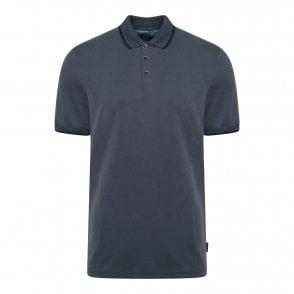e6505abecc2a Ted Baker Mens Bloko Short Sleeve Branded Pique Polo Shirt (Navy ...