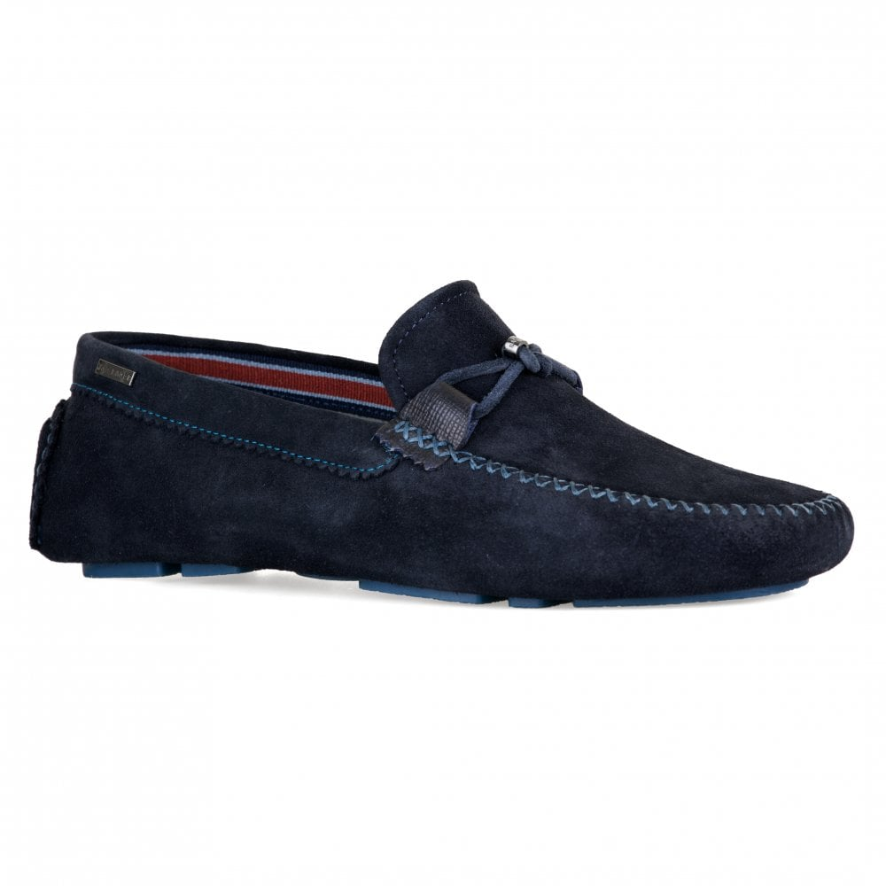 3f041e6e6 Ted Baker Mens Catens Moccasin Shoes (Navy) - Mens from Loofes UK