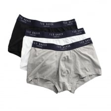 Ted Baker Mens Davinci 3 Pack Plain Boxers (White)