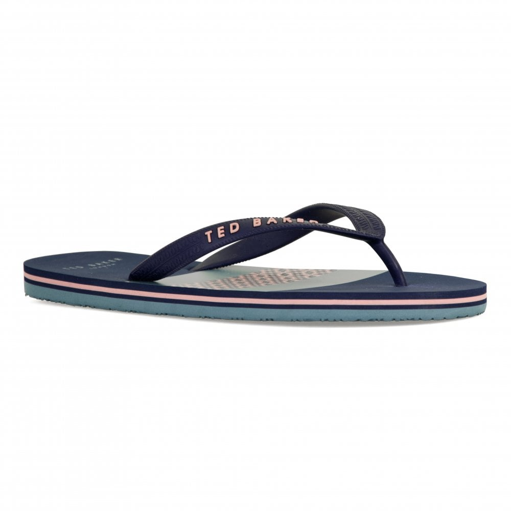5ab92b2cd Ted Baker Mens Dyive Flip Flops (Dark Blue) - Mens from Loofes UK