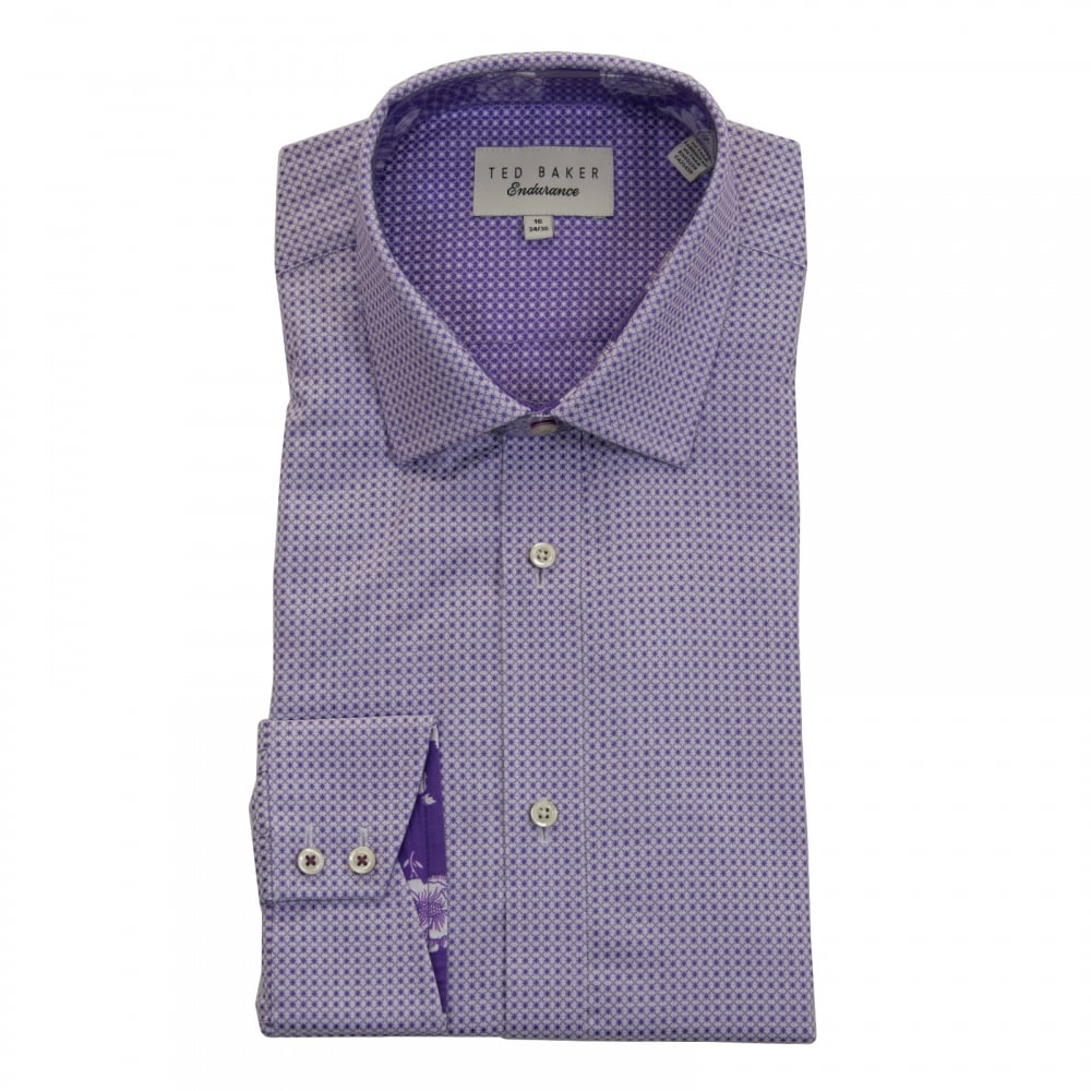 Ted Baker Mens Eager Endurance Sterling Shirt (Purple) - Mens from ... 9a6211c6f1