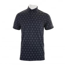 Ted Baker Mens Fella Diamond Geo Polo Shirt (Navy)
