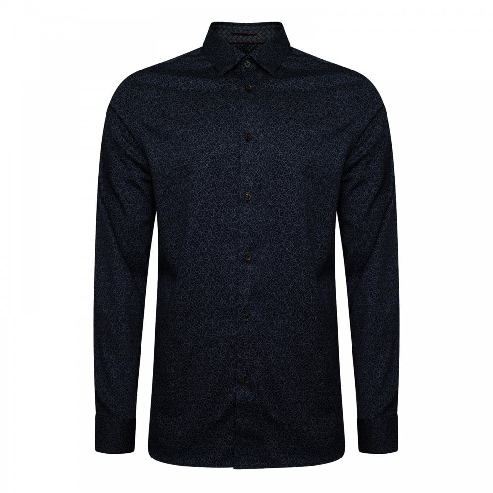 990740e03 Ted Baker Mens Finsbur Floral Geo Print Shirt (Navy) - Mens from ...