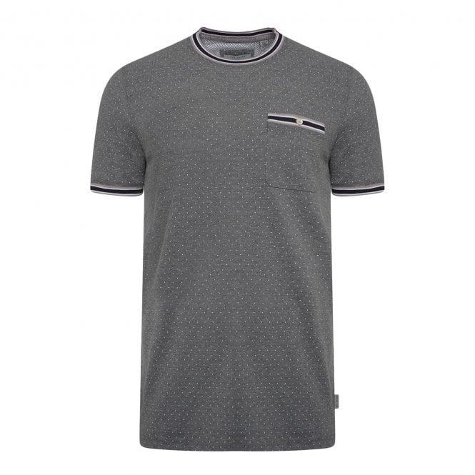 c5f42ef11 Ted Baker Mens Glaad Mini Spot T-Shirt (Grey) - Mens from Loofes UK