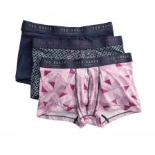 Ted Baker Mens Hall 3 Pack Boxer Shorts (Purple)