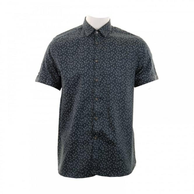4ee576d19 TS6MGA3210 OL102TT 519238243. ted baker mens manoman floral print shirt  navy from loofes uk