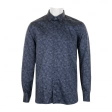 Ted Baker Mens Marais Double Side Print Shirt (Blue)