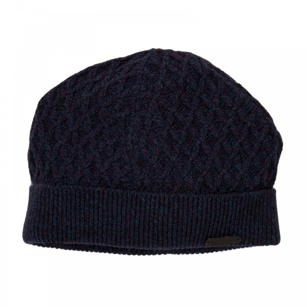 Ted Baker Mens Morhem Twist Colour Beanie Hat (Purple) - Mens from ... 7517daf2348