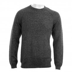 Ted Baker Mens Morrelo Textured Raglan Knit Sweater (Charcoal)