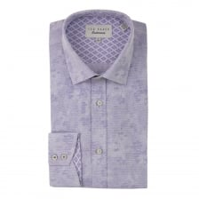 Ted Baker Mens Pampa Shadow Flower Shirt (Purple)