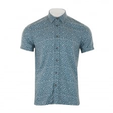 Ted Baker Mens Pazta Tropic Print Shirt (Blue)