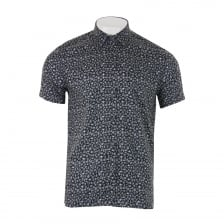 Ted Baker Mens Pazta Tropic Print Shirt (Navy)