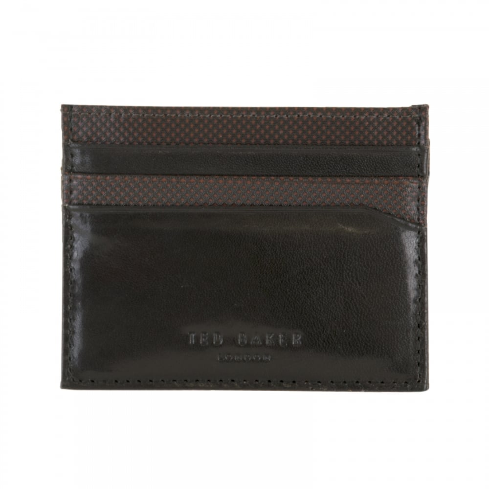 65b9d9224 Ted Baker Mens Percar Leather Card Holder (Black) - Mens from Loofes UK