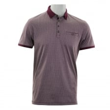 Ted Baker Mens Primo Printed Polo Shirt (Purple)