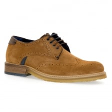 Ted Baker Mens Prycce Suede Brogue Shoes (Tan)