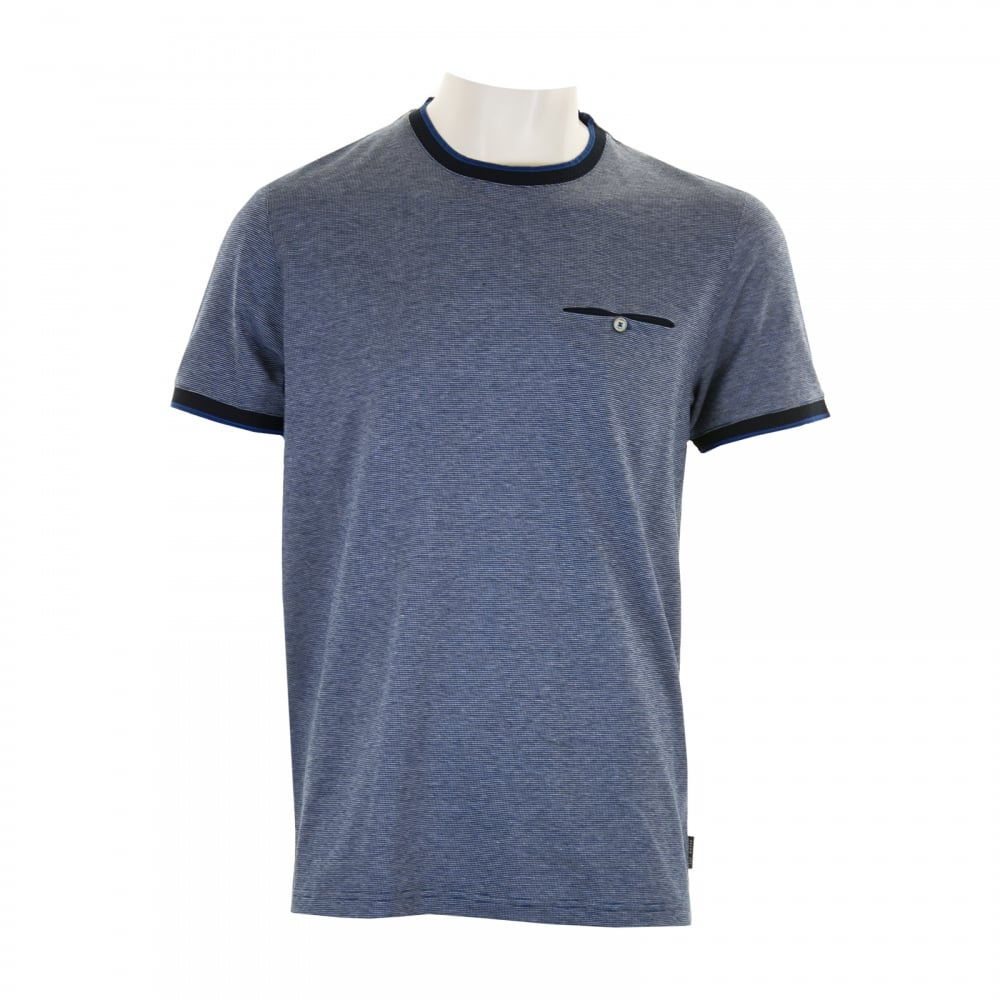 85d10a5e0033 Ted Baker Mens Richie Crew Neck T-Shirt (Blue) - Mens from Loofes UK