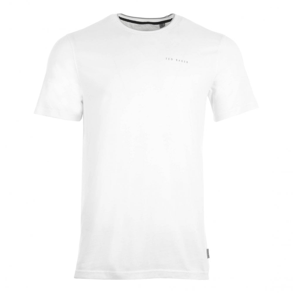 7fb4f8ca Ted Baker Mens Rooma Short Sleeve Solid Branded T-Shirt (White ...