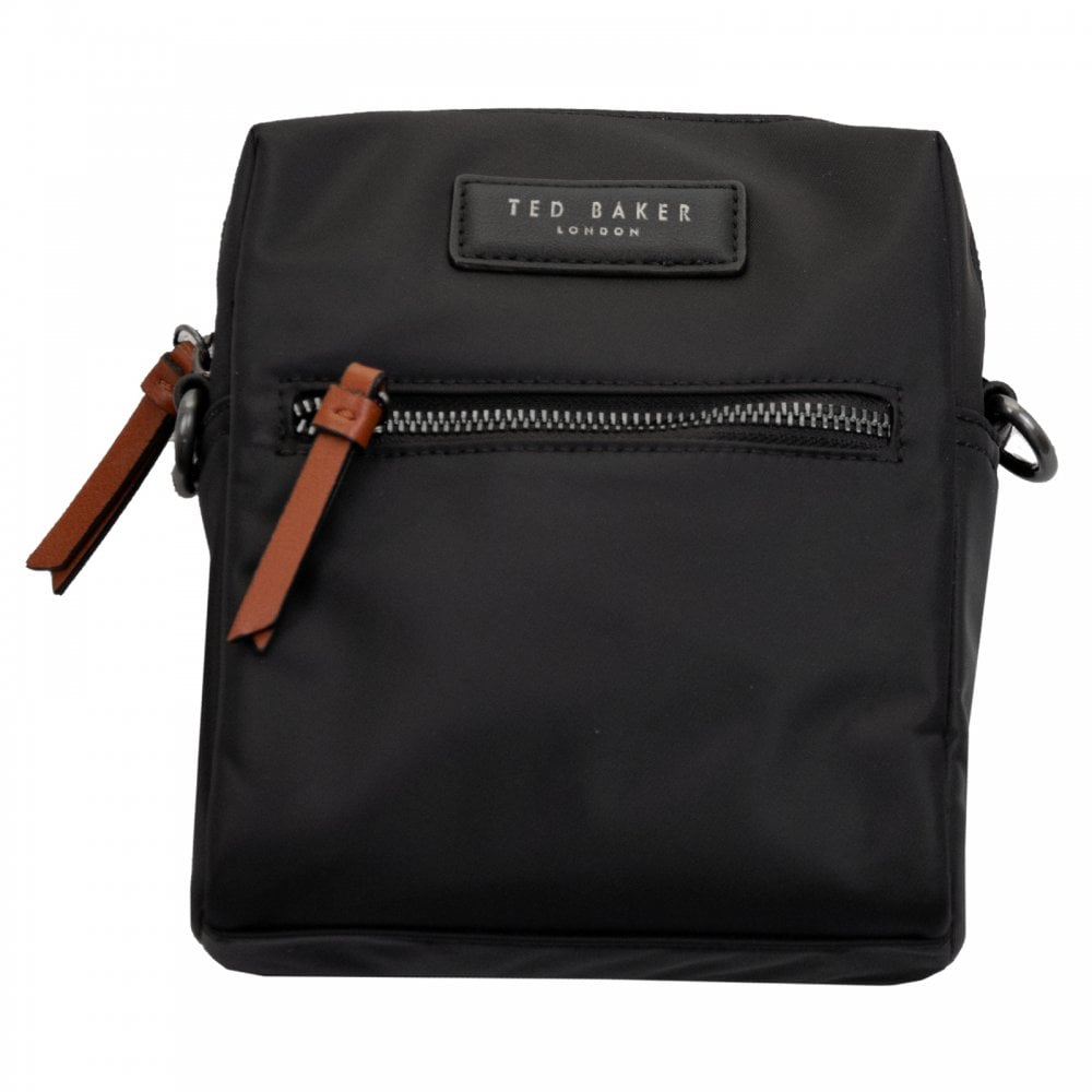 3cdeac4af01 Ted Baker Mens Satday Nylon Mini Flight Bag (Black) - Mens from ...